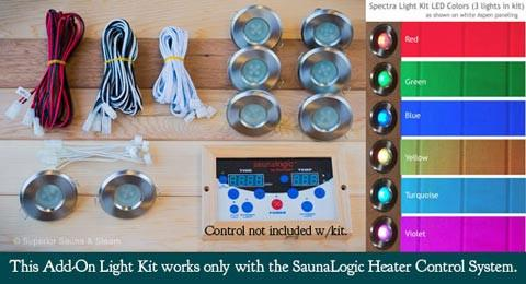 Superior Sauna Add On Recessed Light Kit for Sauna Logic Controls